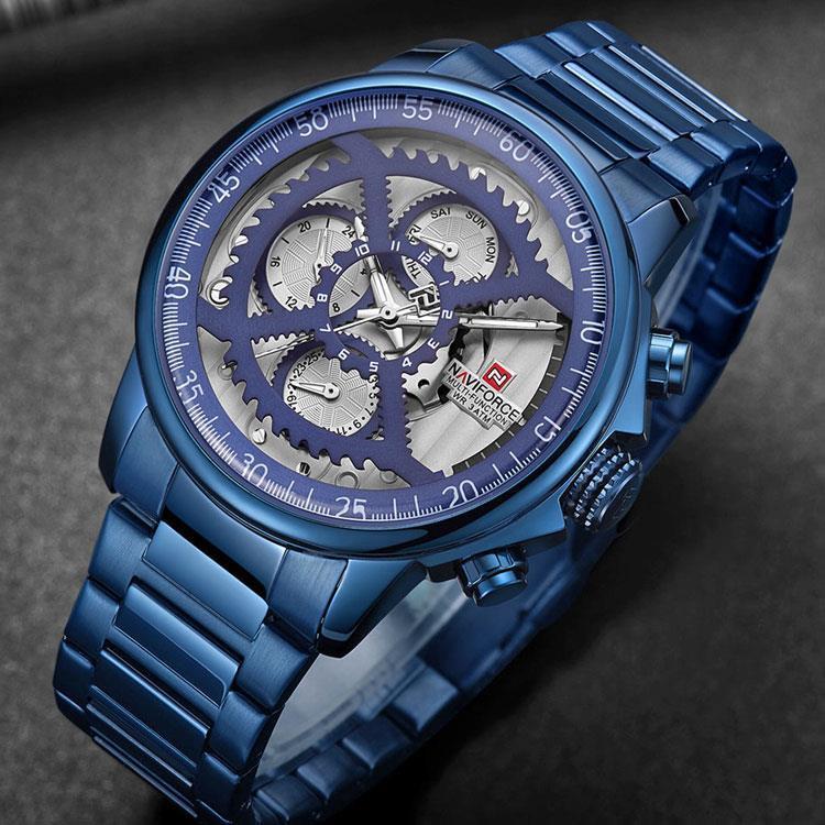 7092a81e2 2019 Modwl Naviforce Top Luxury Brand Casual Sport Waterproof Blue Wat...  9150Blue