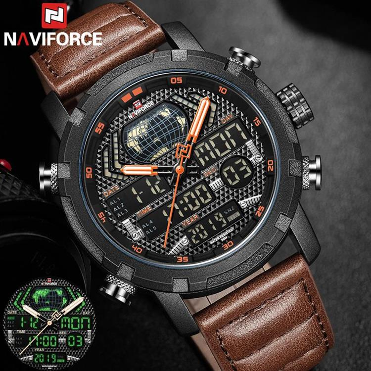 Special. NAVIFORCE Watch Men Top Brand Luxury Digital Analog Sport Wristwatch G... M9160